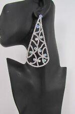 Set Classic Dressy Style Fancy Party Women Silver Metal Drops Fashion Earrings