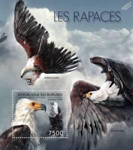 BIRDS OF PREY / African Fish Eagle Bird Stamp Sheet #2 of 7 (2012 Burundi)