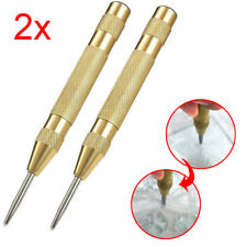 2Pcs 5inch Automatic Center Pin Punch Spring Loaded Marking Starting Tool NEW
