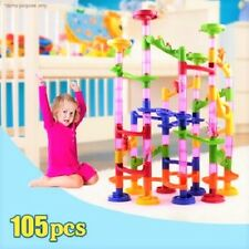 Kids Fun Activity Toy Deluxe Marble Race / Marble Run Play Building Set -105 Pcs