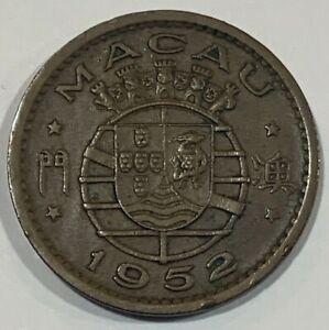 1952 Macau 10 Avos Coin