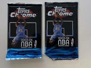 LOT OF (2) - 2003-04 Topps CHROME BASKETBALL FOIL PACKS -  LEBRON JAMES RC