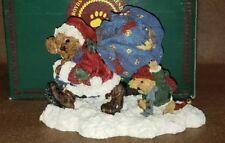 Boyds Bears Sc Northstar & Emmett Lil' Helper #228310 Bearstone 1998 Christmas
