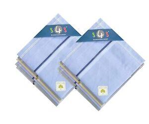 100% Cotton Premium Handkerchiefs Hanky For Men Pack of 12 Size XXL US