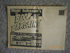 vintage model railroad flyer book of bargains mail order rare and collectable
