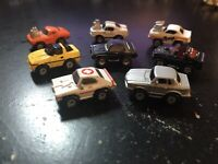 MICRO MACHINES - 1986 GALOOB VINTAGE LOT (8) - HOT ROD, STREET RACERS, MERCEDES