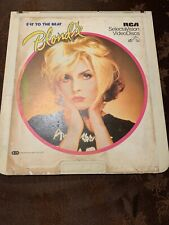 Blondie Eat to the Beat RCA SelectaVision VideoDisc Vintage Video Disc LP CED