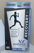 SwiftWick Recovery+ Graduated Compression Socks Medical Class II Black Size Med.