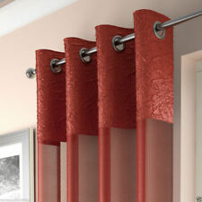 LUXURY MADEIRA VOILE CURTAIN PANEL,VOILE NET CURTAINS,RING TOP,6 MODERN COLOURS
