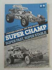 Manuale Originale 1983 Tamiya Super Champ vintage 1/10 radio control off road