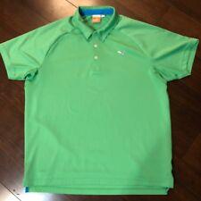 Puma Men Golf Polo Shirt Size Large Green Cool Cell Short Sleeve Sport