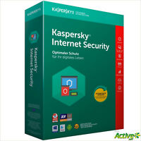 Kaspersky Internet Security 2019 10 PC 1Jahr VOLLVERSION /Upgrade 2018 DE-Lizenz