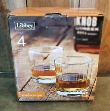 Libbey 4-Piece Madison Rye Whisky Rocks Glasses 13.5 Oz Cocktail Glass