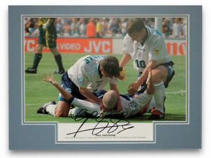PAUL GASCOIGNE England SIGNED Photo Mount COA Proof Tottenham Newcastle Rangers
