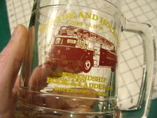original FIRE MAN drinking Glass -- 1976 FRIENDSHIP hook & ladder BOYERTOWN PA