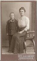 CDV photo Feine Dame mit kleinem Jungen - Heidenheim 1900er
