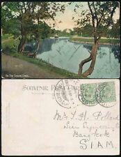 GB to SIAM THAILAND PPC 1908 CRINIAN CANAL ARDRISHAIG SCOTLAND