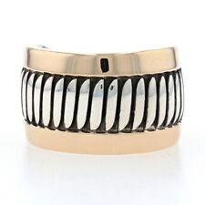 Native American Leonard Schmallie Navajo Sterling Yellow Gold Band 925 14k Ring