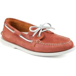 New Sperry A/O 2-Eye Boat Shoes Orange US9 driving moccasin sandals casual boots