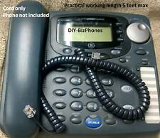 Charcoal Gray 9 Ft Handset Cord GE / Thomson Pro-Series 2 3 4 Line Phone Coil