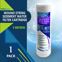"Wound String Sediment 5 Micron Water Filter Cartridge 2.5"" x 10"""