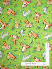 Rabbit Fox Squirrel Animal Toss Cotton Fabric Fabriquilt Krazy Kritters - Yard