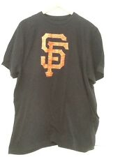 "MENS MLB Apparel SAN FRANCISCO GIANTS ""TEAM LOGO"" Black Jersey T Shirt XL"