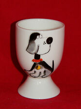 BN Personalised Bone China Cute Dog Egg Cup, Christening Naming Day Gift, boxed