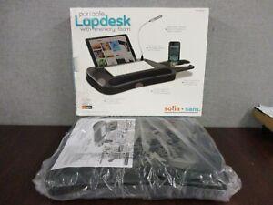 NOP Sofia + Sam Portable Lap Desk w/ Memory Foam & USB Light & Mouse Deck -Black