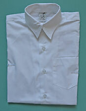 NEW unisex Long School Formal shirt WHITE size 5 to 16