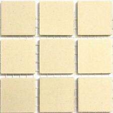 20mm Ceramic Unglazed Porcelain Mosaic Tiles. Ivory. 49 Tile Pack