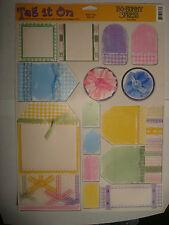 Scrapbooking - Bo Bunny Press - Tag It On - Ribbon Tags RIBT169