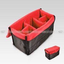 New Insert Padded Camera DSLR Inner Folding Divider Partition Protect Case Red