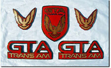 NEW 87-90 GTA Trans Am Emblem 5pc Set (BRIGHT RED)