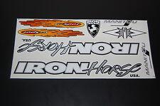 IRON Horse Manitou X- Vert Sticker White, Silver & Black.