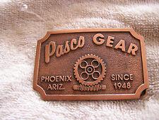 Pasco Gear Belt Buckle Phoenix Arizona