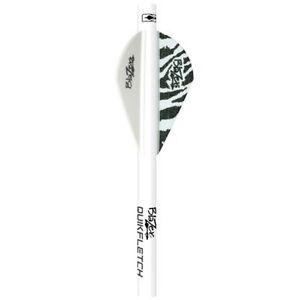 Bohning Blazer QuikFletch Shrink Quik True Fletch White Tiger 6pk #20045 Arrow