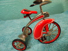 Hallmark Kiddie Car Classic 1997 De Lux  Velocipede Red Tricycle  QHG6319