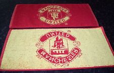 MANCHESTER UNITED  Crested Bar Towel 100% Cotton FREE POST UK