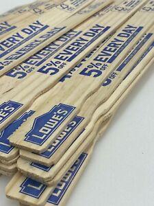 "36 Lowe's Paint Stain Epoxy Sticks Stirrer Mixer Paddle WOOD - 12"" Gallon Quarts"