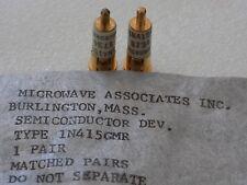 1N415GMR pair of 2 Matched Gold Slug Microwave Associates M/A Com Mixer Diodes