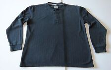 Kenneth Cole REACTION (L) Mens Long Sleeve Pajama Top Black Cotton/Polyester EUC