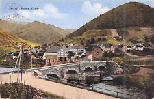 color. Foto AK 1927@Rech a. d. Ahr@Stadtansicht Brücke@Kraftpostfahrten-Stempel