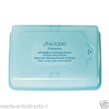 SHISEIDO PURENESS REFRESHING CLEANSINT SHEETS LINGETTES DEMAQUILLANTES FRAICHES