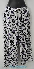 HELLO KITTY lounge pants fuzzy Pajamas pj's bottoms purple bow Womens Size L NEW
