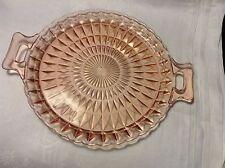 4pc JEANNETTE WINDSOR DIAMOND Depression Glass PLATE + VEG BOWL + 2 BERRY BOWLS
