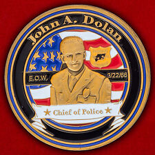"""Challenge coin police Department long hill, new Jersey """"to the memory of John Do"""