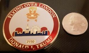 RAREFAT CRY BABY TRUMP BALLOON FLYING OVER LONDON CHALLENGE COIN  21 OF 50