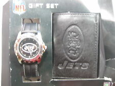 NEW NFL NEW YORK JETS  WATCH & WALLET  Gift Set- by GAME TIME