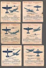 1940's C271 Aircraft Spotter Bilingual Tobacco Cards Lot of 58